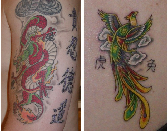 Japanese Tattoos with Phoenix Tattoo